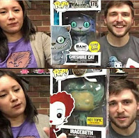 Funko Pop! Cheshire Cat GITD Y Iracebeth Patina