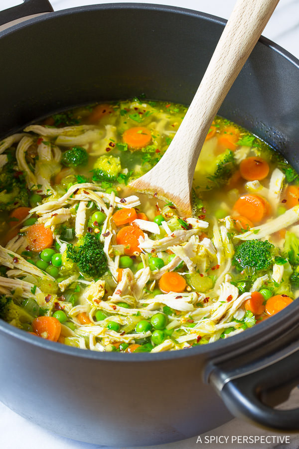 Chicken Detox Soup food