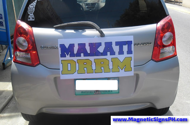 Customized Bumper Magnet - DRRM Makati, Philippines