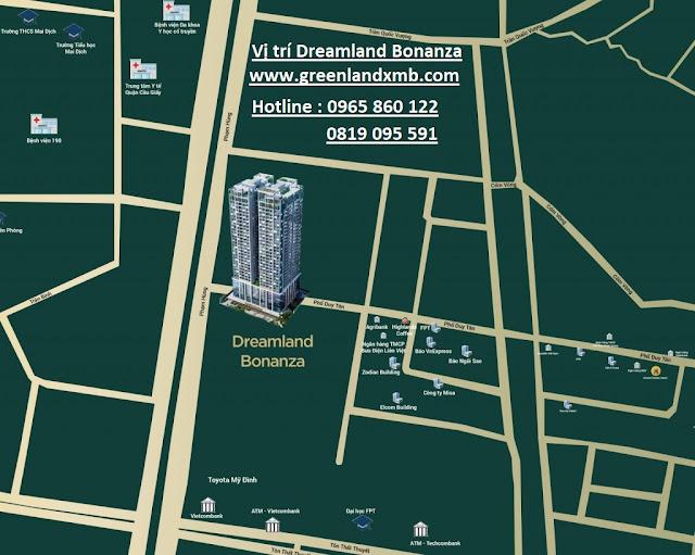 Vị trí dự án Dreamland Bonanza số 23 Duy Tân