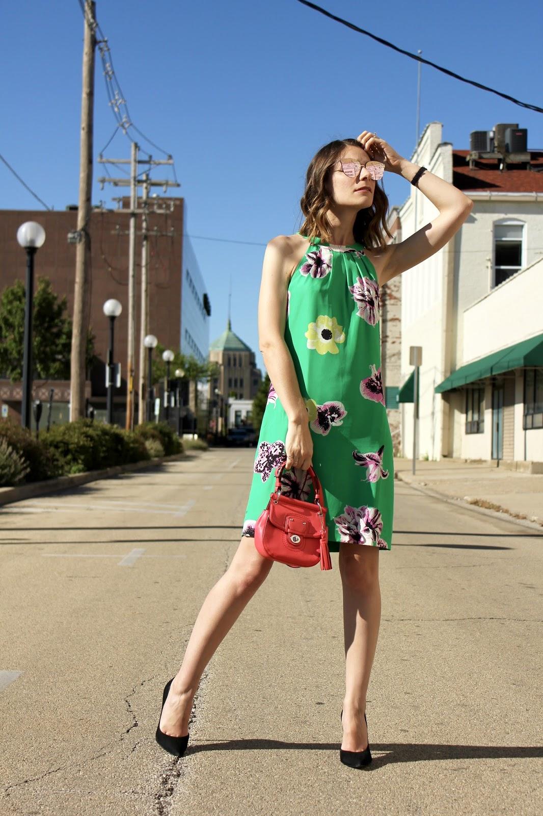 Green Silk J.Crew Dress