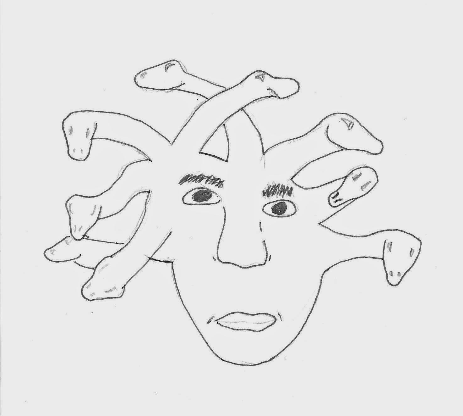Mitología Griega Y Dibujos Medusa