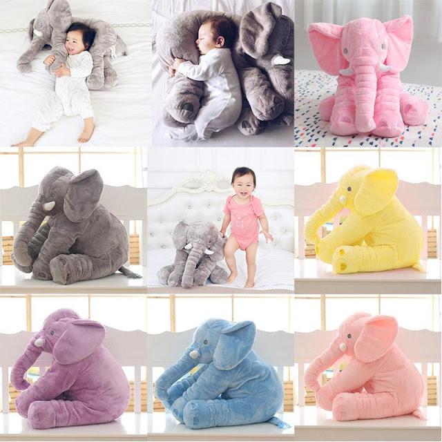 Kids Plush Soft Elephant Pillow