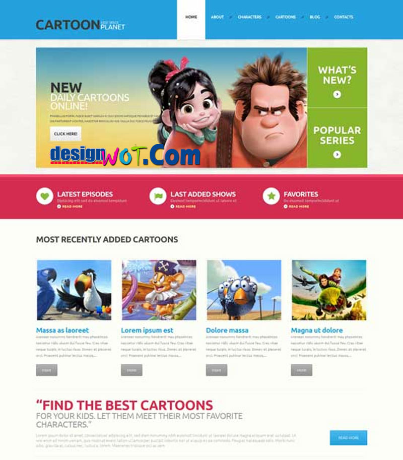 CARTOON Movie Responsive WordPress Theme