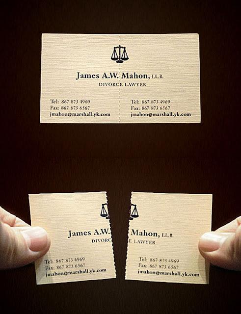 Danh thiếp của luật sư chuyên về ly hôn