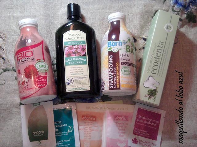 Champús, geles de baño y pasta de dientes bio