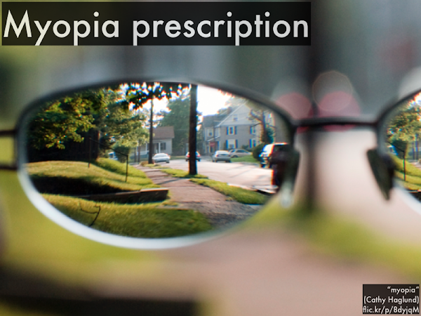 This means when you wear contacts (or glasses) to correct myopia, you are actually looking at virtual images!