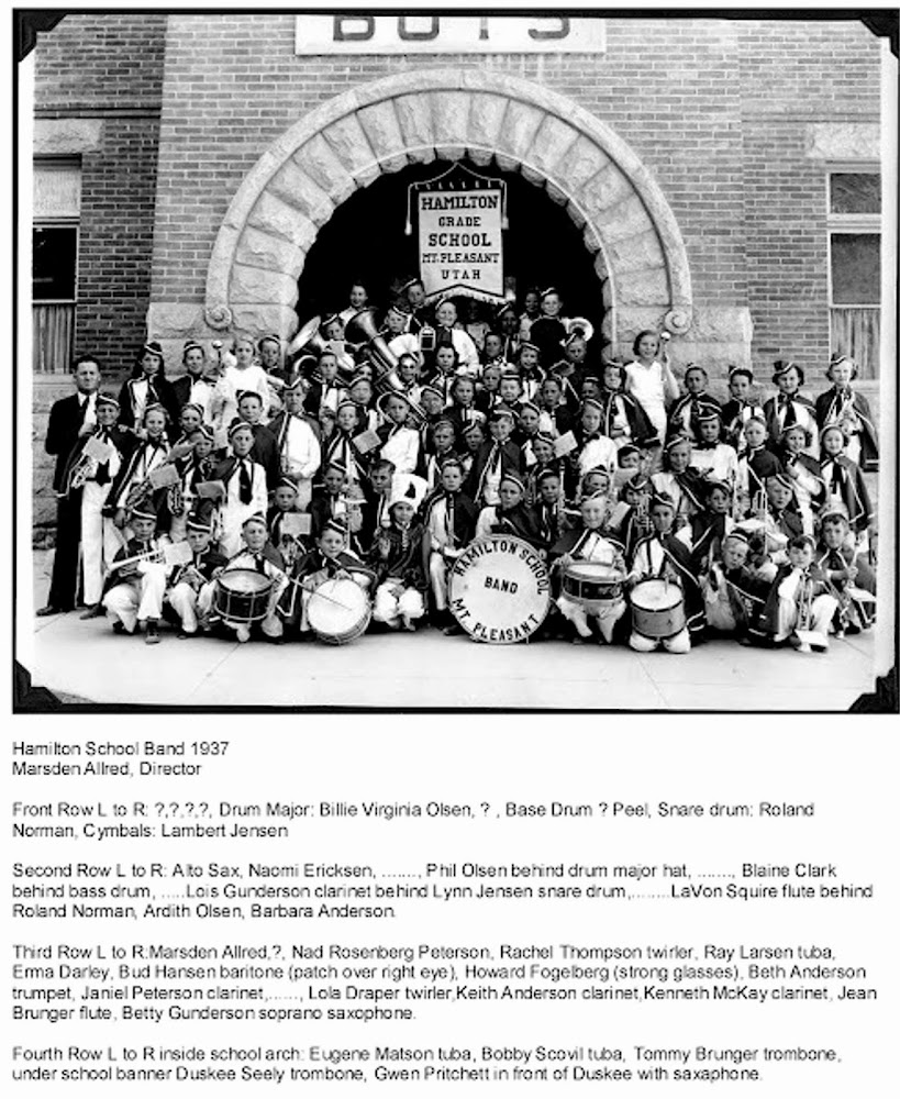 1937 hamilton school band submitted by betty gunderson woodbury