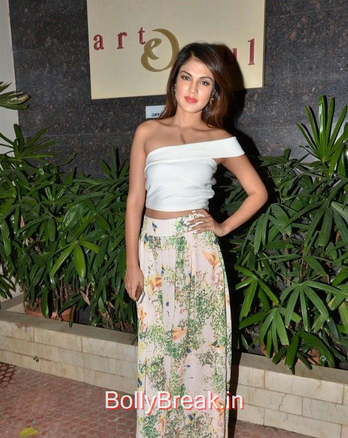 Rhea Chakraborty, Imran, Vidya & Celevs at Sculptors Show in Mumbai