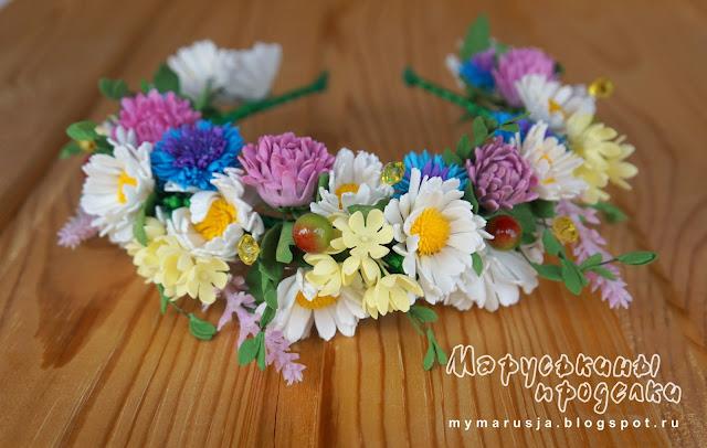 украшения для волос из цветов