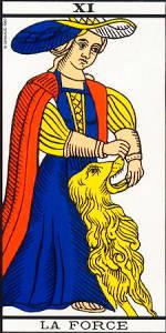 La Fuerza- Arcano XI- Tarot de Marsella