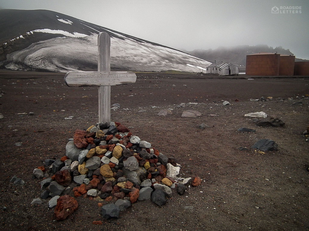 Whaler's grave on Deception Island Antarctica