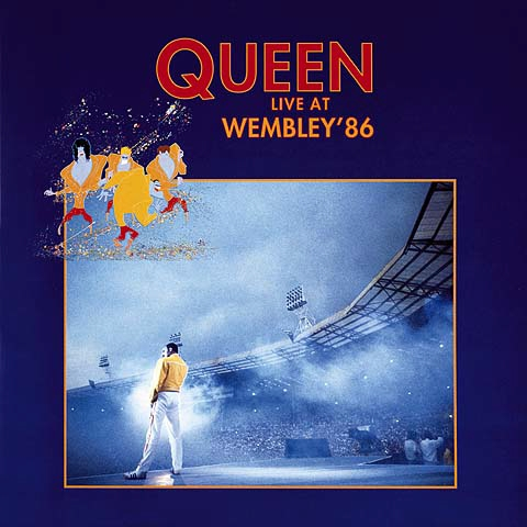 Portada del doble disco en directo Live At Wembley '86 del grupo Queen