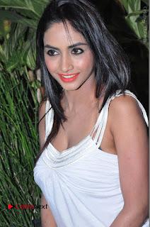 Actress Model Pooja Sri Stills in White Short Dress at F Club pre soft Launch  0124.JPG