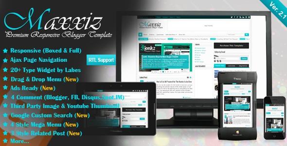 Maxxiz Magazine Responsive Blogger Templates