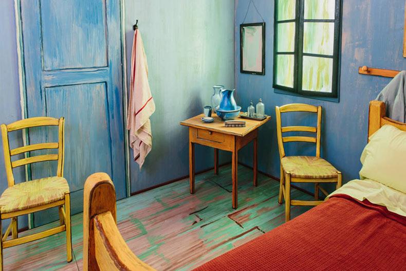 Artistas recrean popular dormitorio de Van Gogh para ser alquilado por $  10