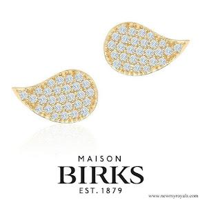 Meghan Markle Jewelry - Birks Petale Gold and Diamond Earrings