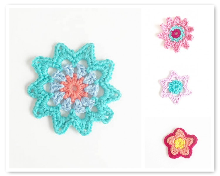 For the Love of Crochet Along: Free Flower Patterns