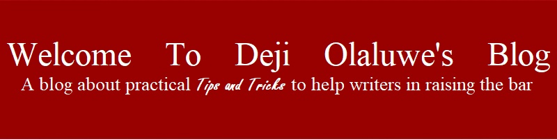 Welcome To Deji Olaluwe's Blog
