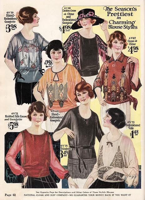 1920s Downton Abbey blouses via Vintage Dancer