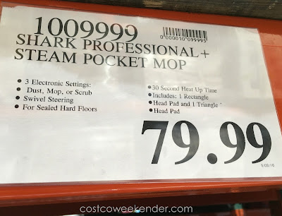 Deal for the Shark Professional Steam Pocket Mop at Costco