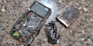 Roncador: Celular explode ao carregar bateria e assusta casal