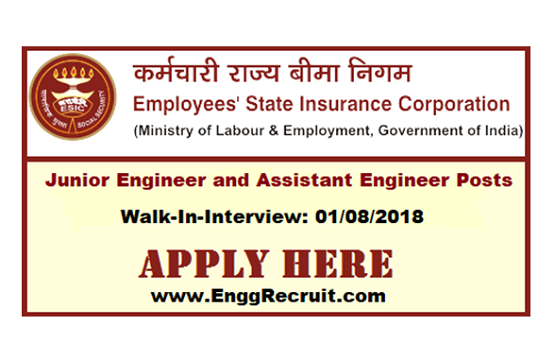ESIC Recruitment 2018