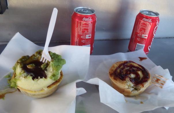 Australien, Essen, Meat Pie, vegetarisch, Cola
