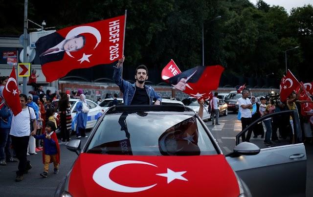 #صور أنصار #أردوغان يحتلفون بتقدمه في الانتائج الأولية للانتخابات الرئاسية التركية