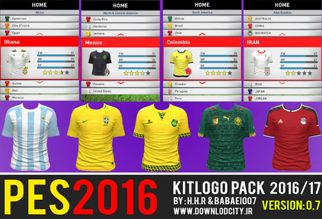 PES 2016 Kit Logo Pack Season 2016-2017