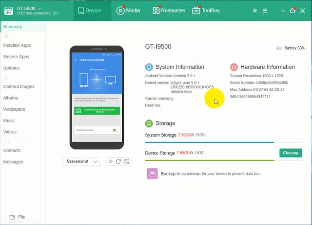 تطبيق MoboMarket للتحكم وإدارة هواتف الأندرويد والآيفون من خلال الكمبيوتر