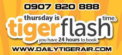 Vé máy bay Tiger Air khuyến mãi ngày 8/10/2015 giá 5 USD