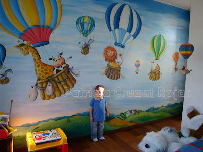 Patricia cruzat artesania y color murales infantiles - Mural pared infantil ...
