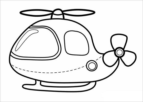 Dessins Et Coloriages Petit Helicoptere A Colorier Pour Enfants