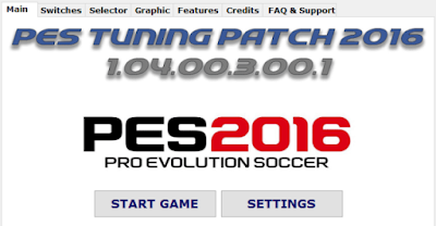 Patch PES 2016 Terbaru dari Tuning Patch V1.04.00.3.00.1