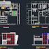 مخطط منزل عائلي( شقة ) اوتوكاد dwg