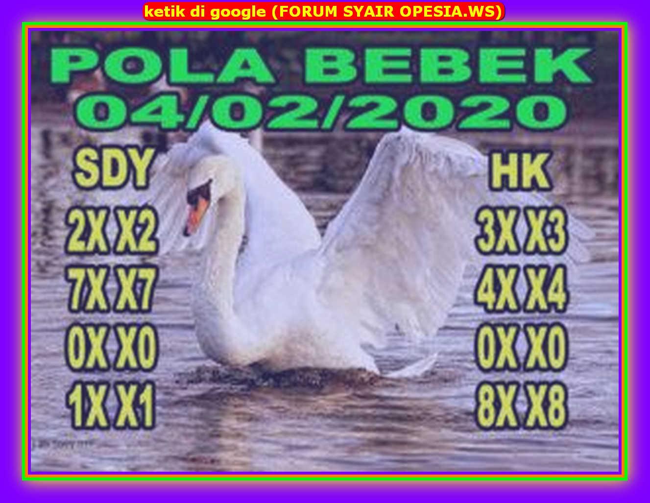 Kode syair Hongkong Selasa 4 Februari 2020 70