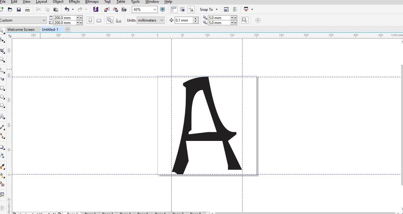 Cara Mudah mendesain Font Sendiri dengan Corel Draw