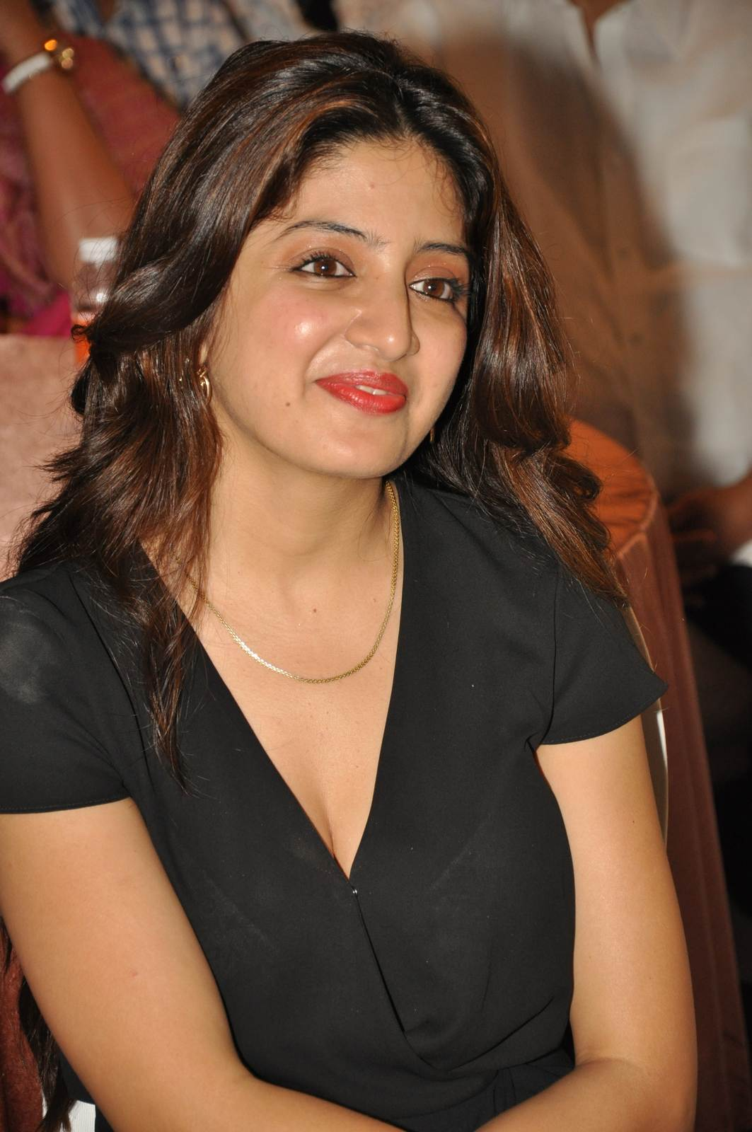 Poonam Kaur Stills in Black Dress, Poonam Kaur hot Pics in black Dress from 365 Days Movie Audio Launch