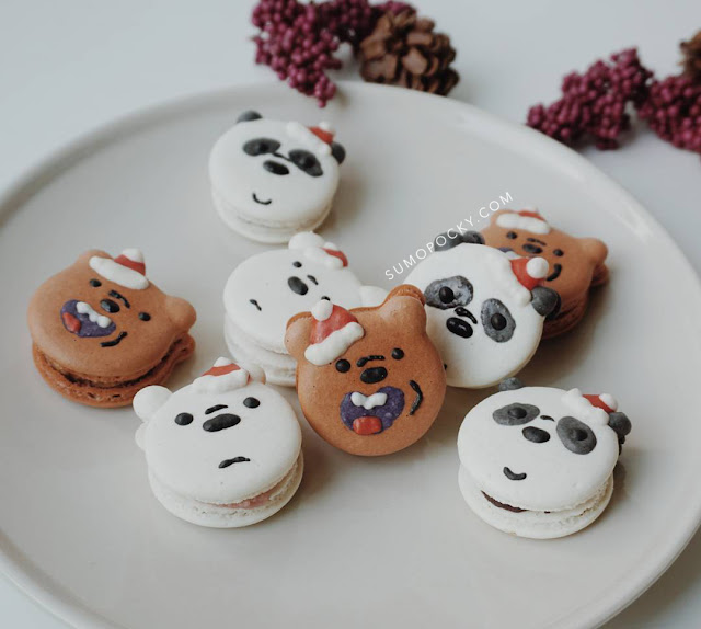christmas macarons singapore we bare bear
