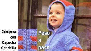 Campera con capucha para niño / Tutorial Ganchillo
