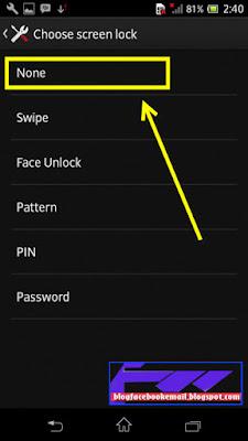 bagaimana cara menonaktifkan kunci layar hp android