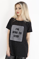 Tricou Dama Zara Black Here To Stay