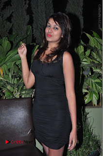 Actress Kavya Kumar Stills in Black Short Dress at F Club pre soft Launch  0018.JPG