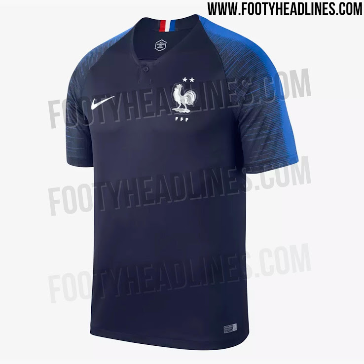 c71843d8ae4 No World Cup Winners Badge - Nike France 2 Star 2018 Home Kit ...