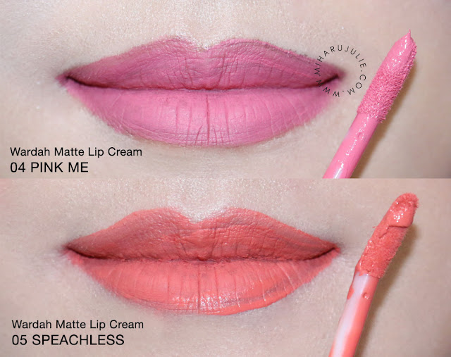 SWATCHES & REVIEW WARDAH EXCLUSIVE MATTE LIP CREAM