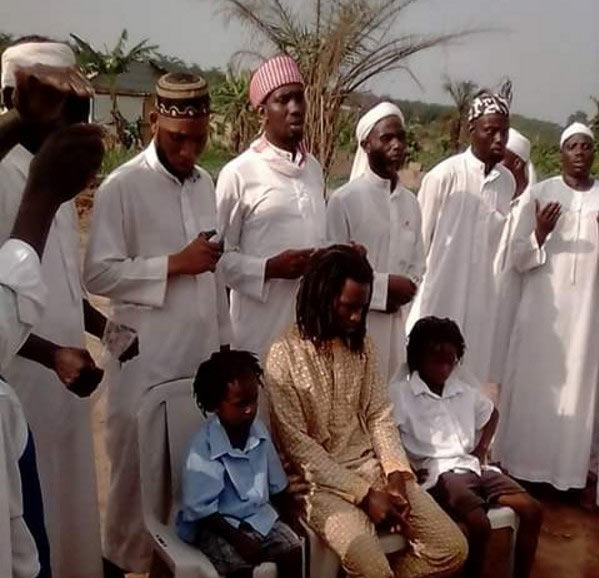 Apostle must hear this! Prophet and sons convert to muslim, shred their dreadlocks (dada)