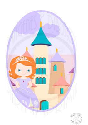 Lamina para decorar de princesa sofia
