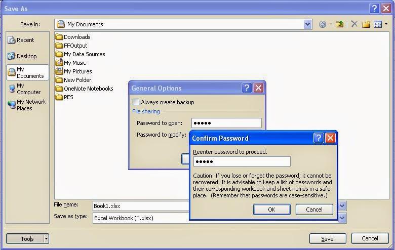 Cara Proteksi Workbook Pada Ms.Office Excel