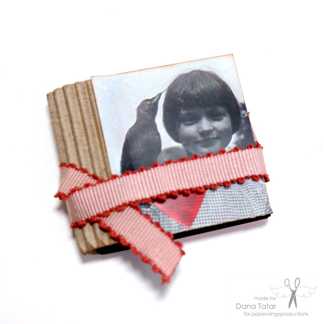 Stamped Mini Book with Clip Art Cover by Dana Tatar